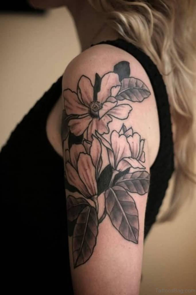 34 Wonderful Magnolia Tattoos On Shoulder