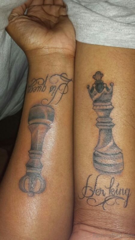 King and queen snake tattoo Chest