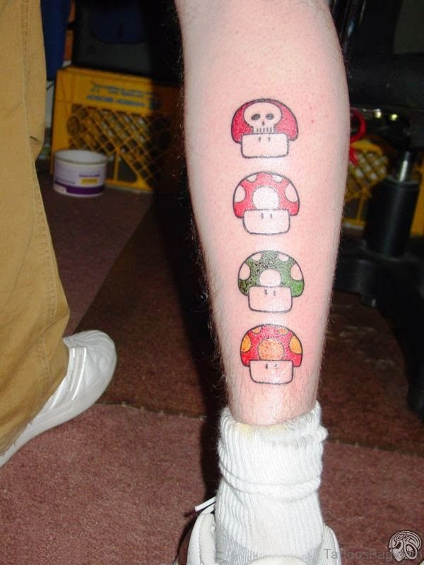 1Up Tattoos On Calf