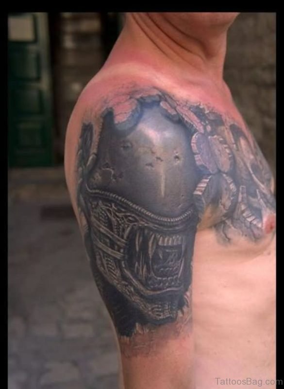 3D Alien Tattoo