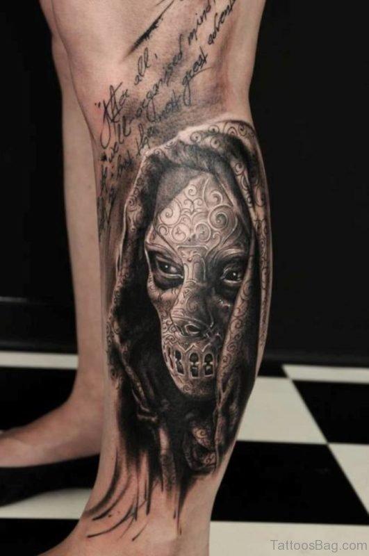 3D Mask Tattoo