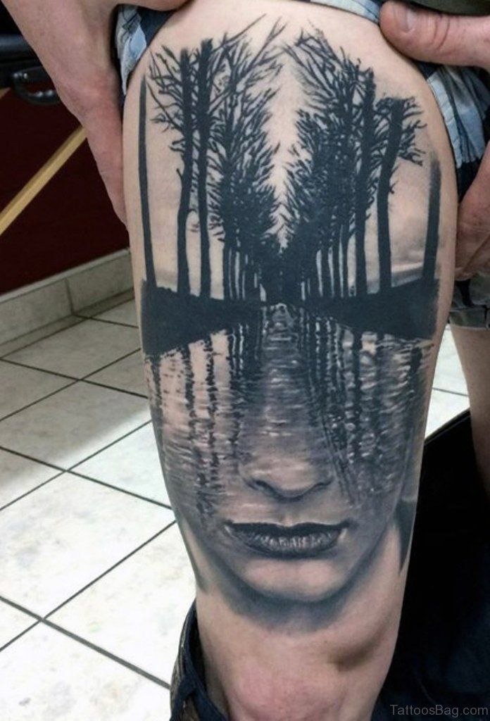 35 Fabulous Tree Tattoos On Thigh