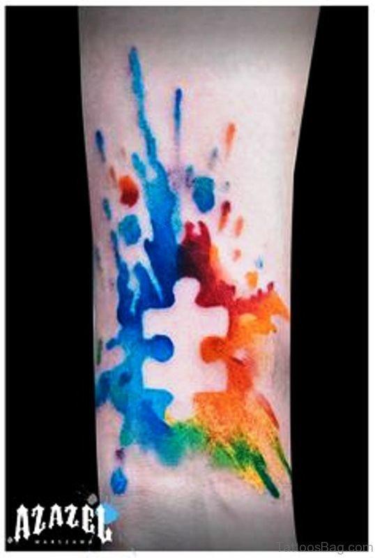 Adorable Autism Tattoo On Wrist