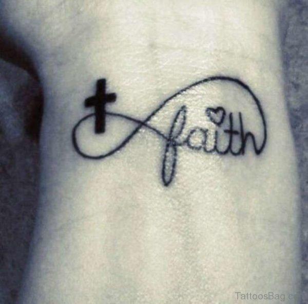 Adorable Faith Wrist Tattoo