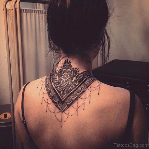 Adorable Mandala Lace Tattoo Design