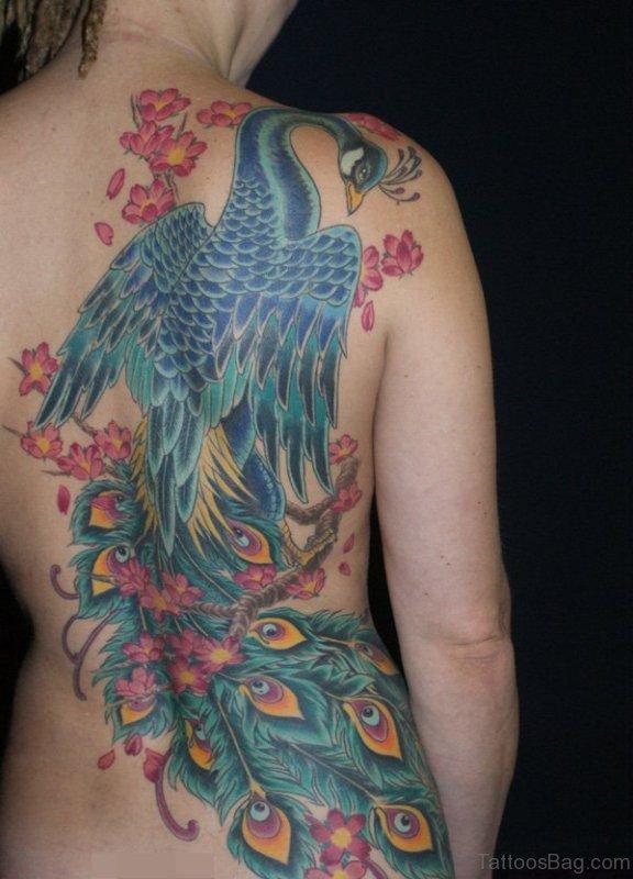 Adorable Peacock Tattoo