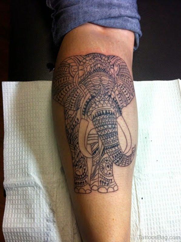African Forearm Elephant Tattoo