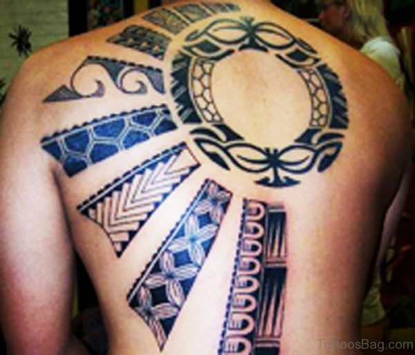 African Tattoo On Back Body