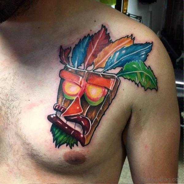 Aku Aku Mask Tattoo