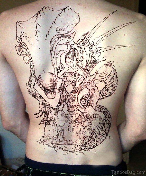 Alien Tattoo On Back