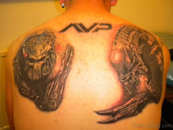 Alien vs Predator Tattoo