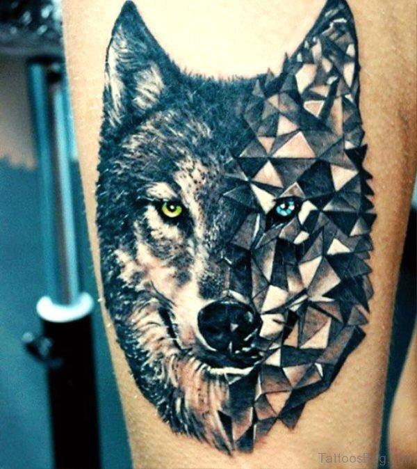 Amazing Alpha Wolf Tattoo