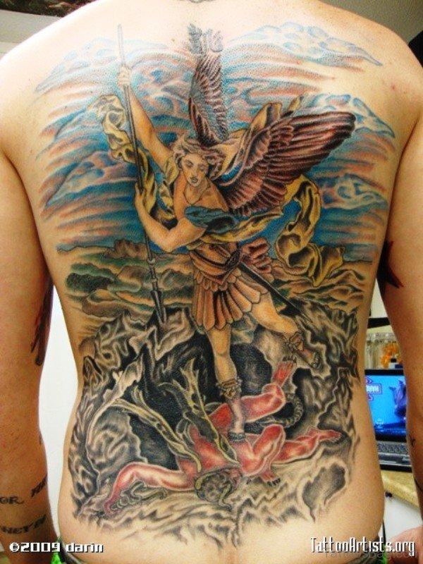 Amazing Archangel Tattoo Design 1