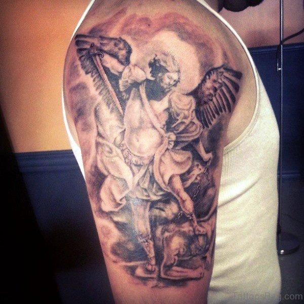 Amazing Archangel Tattoo Design