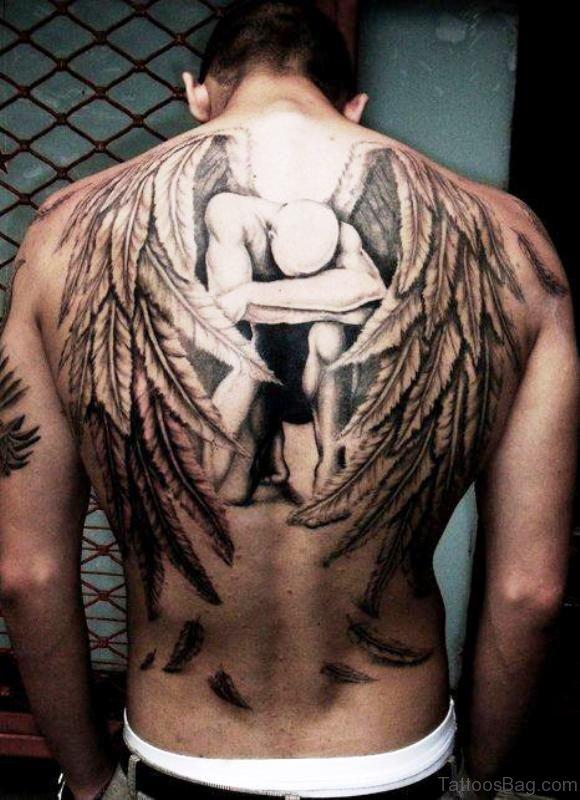 Amazing Archangel Tattoo On Back
