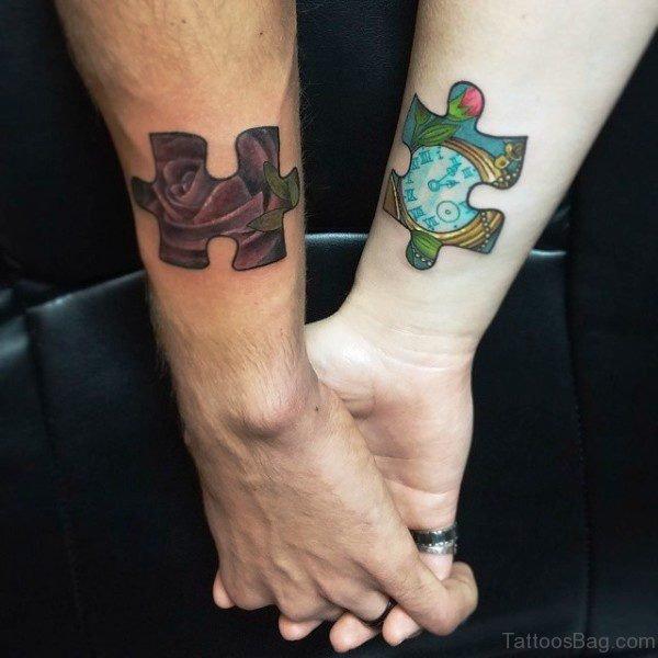 Amazing Autism Tattoos On Both Wrist