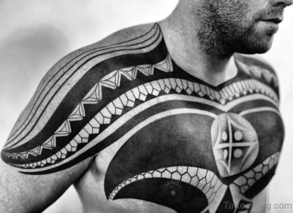 Amazing Black Tattoo On Chest