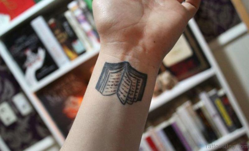 12 nice book tattoos on wrist. Black Bedroom Furniture Sets. Home Design Ideas