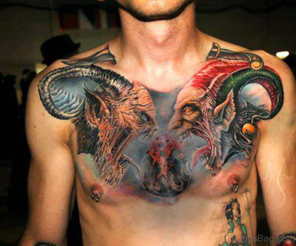 75 brilliant chest tattoos for men