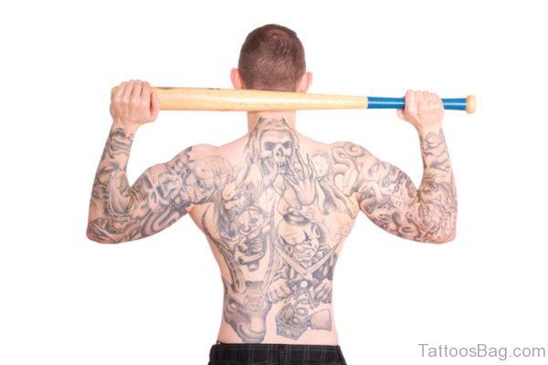 Amazing Devil Tattoo On Back Body