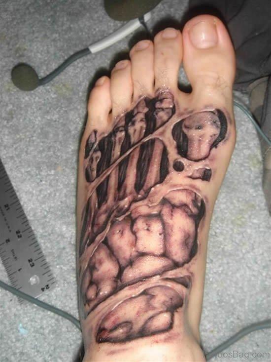 Amazing Foot Tattoo