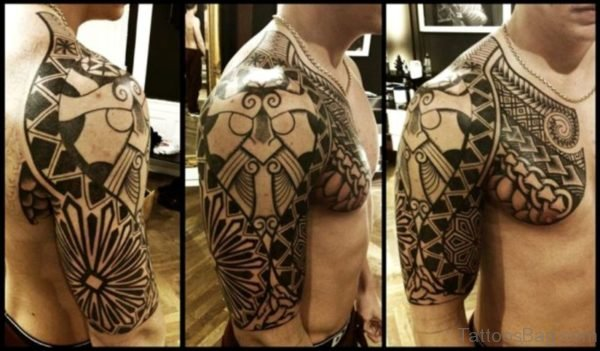 Amazing Nordic Shoulder Tattoo