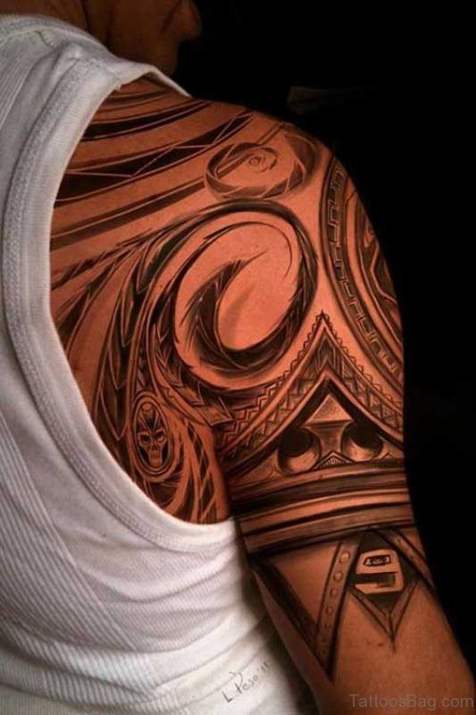 Amazing Nordic Tribal Tattoo Design