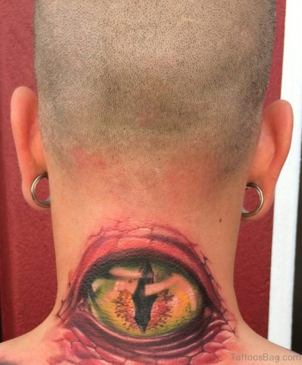 Amazing Ripped Skin Eye Tattoo