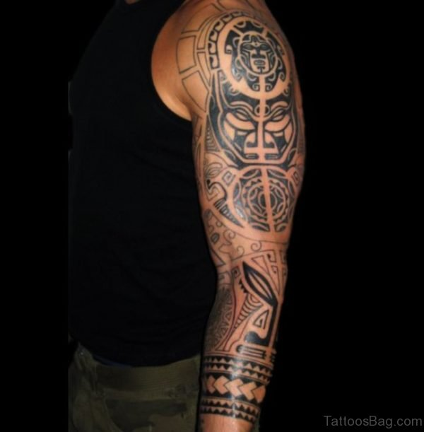 Amazing Tattoo On Full Sleeve