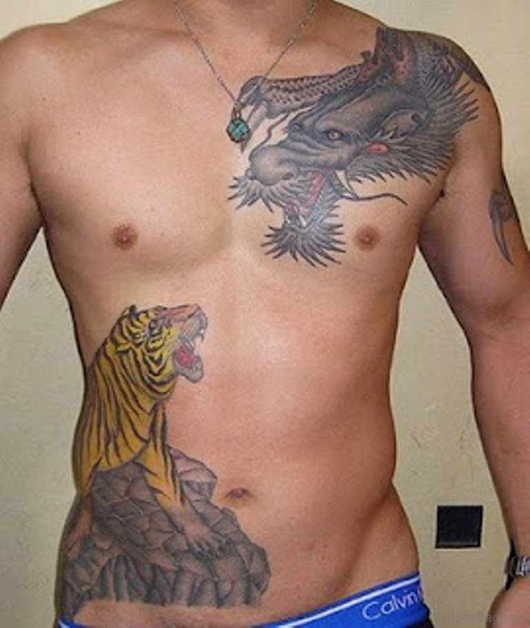 40 Stylish Tiger Tattoos For Stomach