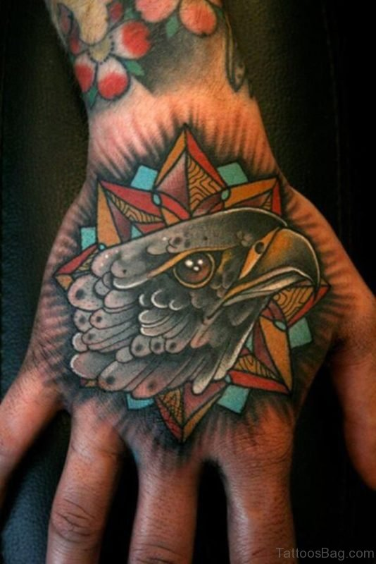 Amazing Traditional Eagle Tattoo On Hand