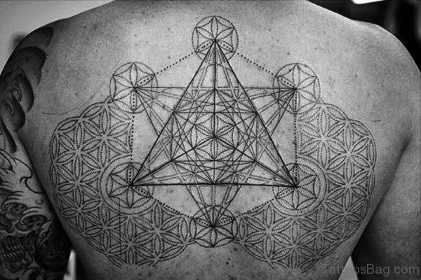 Amazing Triangle Tattoo On Back
