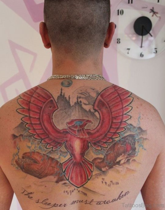 Amazing Wings Tattoo On Back