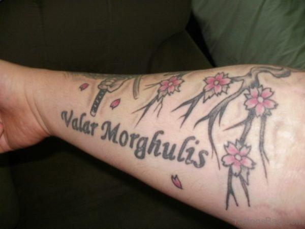 Ambigram Tattoo Design On Arm
