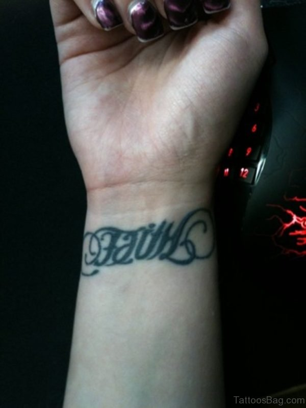 Ambigram Tattoo Design On Wrist