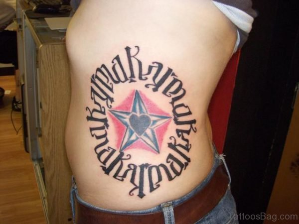 Ambigram Tattoo For Rib
