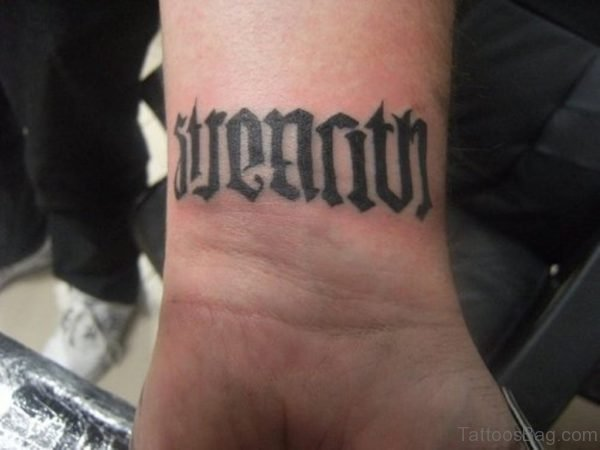 Ambigram Tattoo On Wrist Wrist 589 TB115