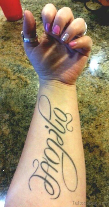 Ambigram Tattoo on Wrist TB120