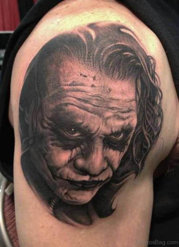 Amesome Black Man Shoulder Tattoo