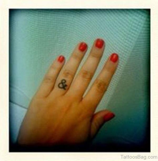 Ampersand Finger Tattoo