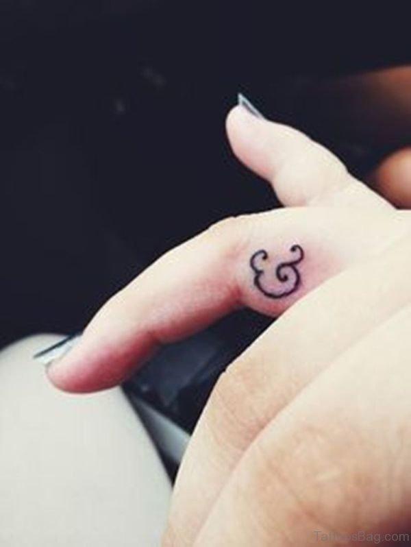 Ampersand Tattoo On Finger