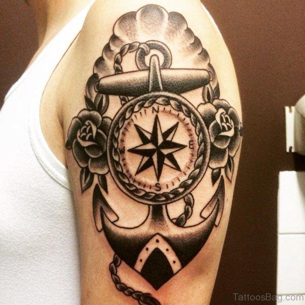 Anchor Black Nautical Tattoo