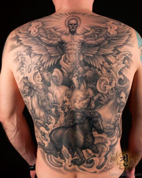 Angel And Devil Wings Tattoo BT1012