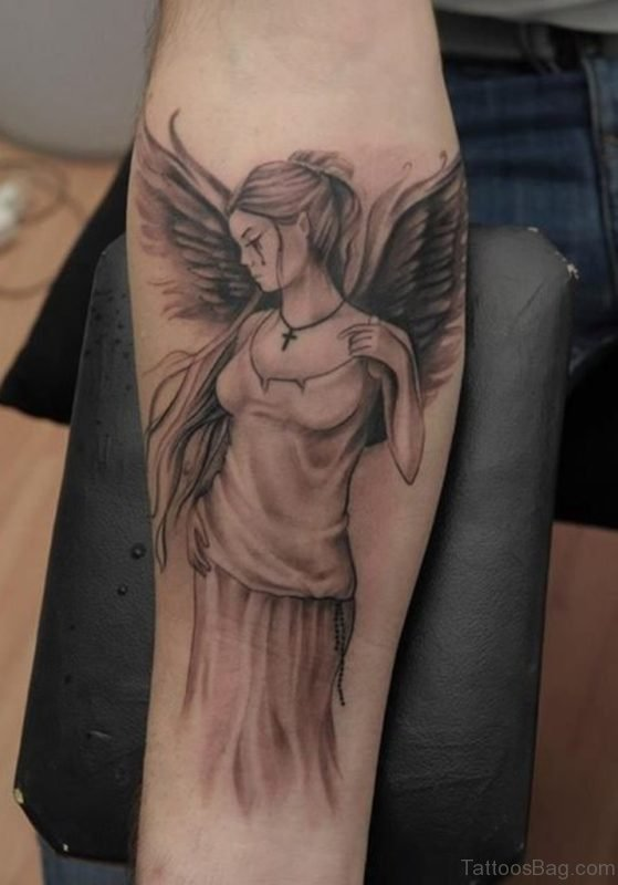 Angel Girl Tattoo On Arm