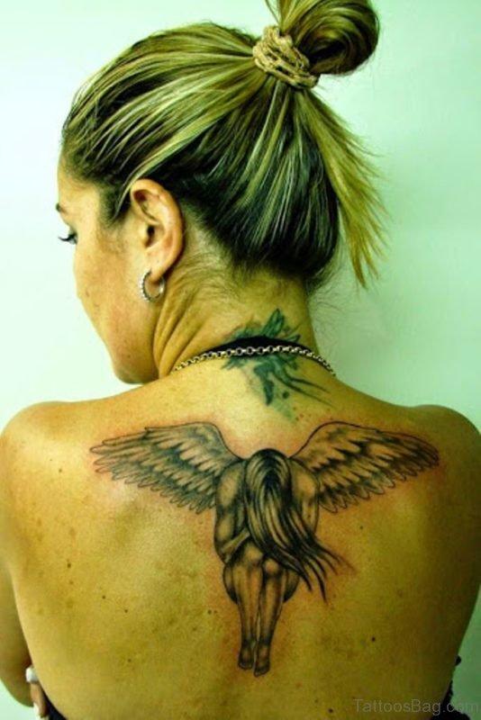 Angel Tattoo Design On Back