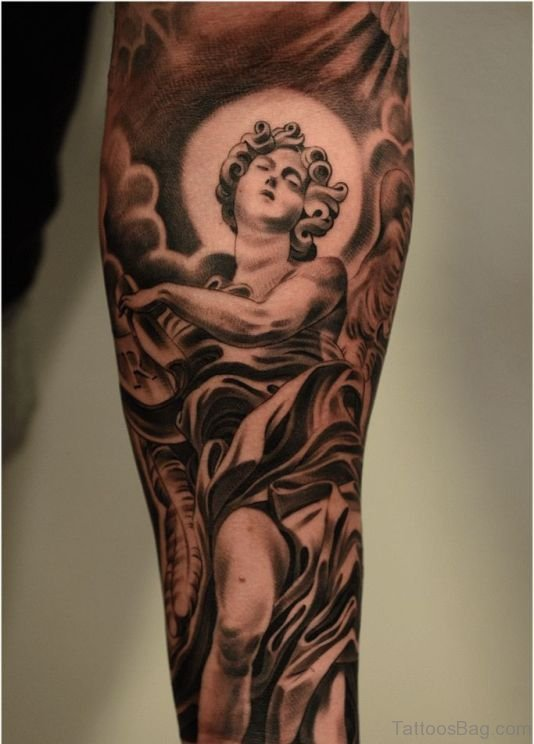 Angel Tattoo On Arm