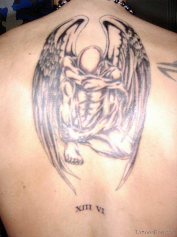 Angel Tattoo On Back BT1020