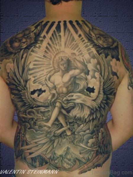 Angel Tattoo On Full Back