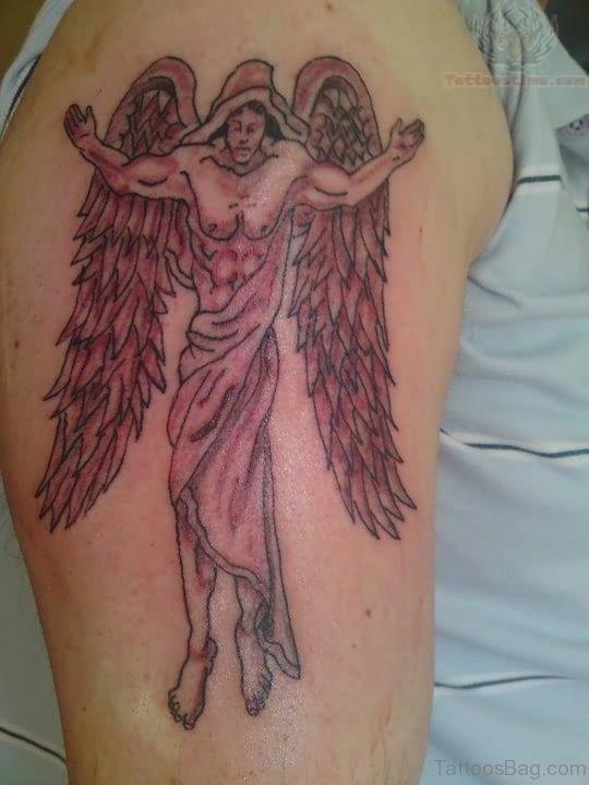 Angel Wings Tattoo Design On Shoulder