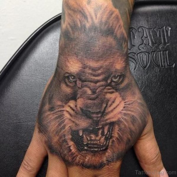 Angry Lion Tattoo